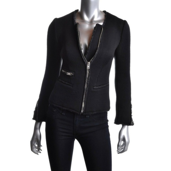 IRO Jackets & Blazers - IRo  Distressed Black Fitted Blazer Sweater Jacket